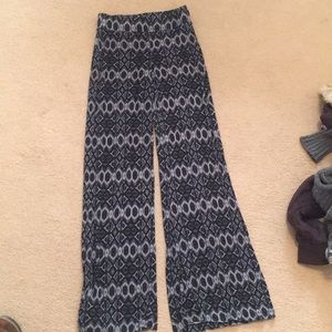Patterned Flare Pants